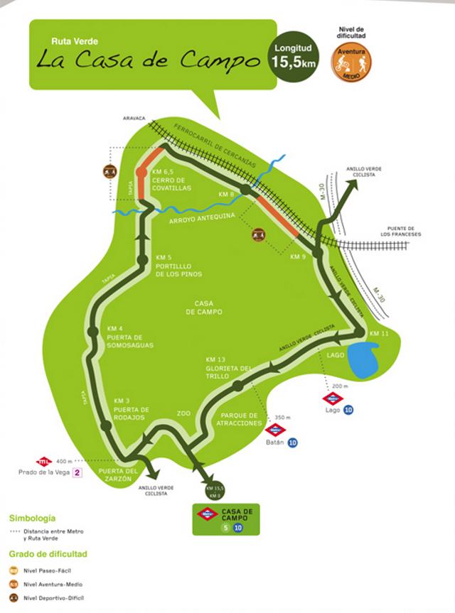Disfrute del senderismo en la casa de campo - Mapa de la casa de campo ...