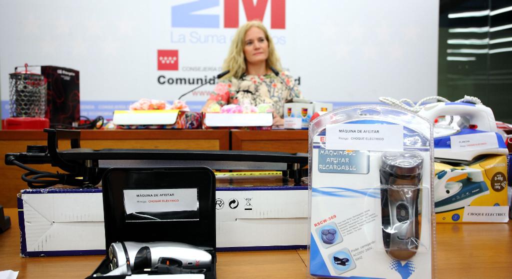 M s de productos peligrosos retirados en madrid for Oficina consumidor getafe