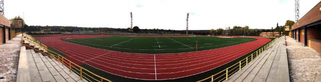 Panoramica obras Pista atletismo 10 noviembre 20141