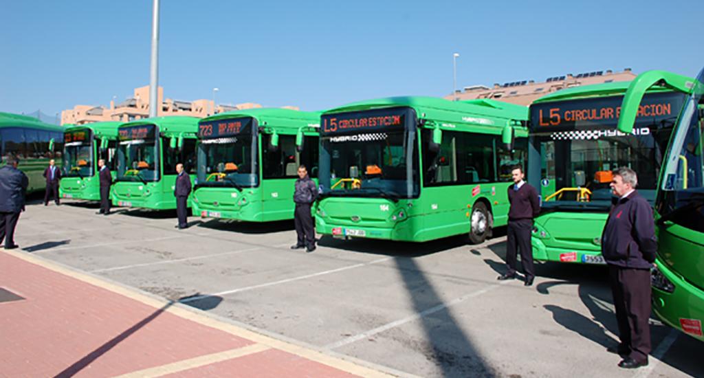 Cinco nuevos autobuses h bridos en colmenar - Jardineria colmenar viejo ...