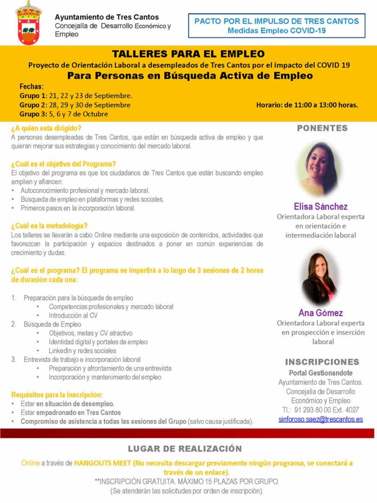 talleres online para la búsqueda de empleo