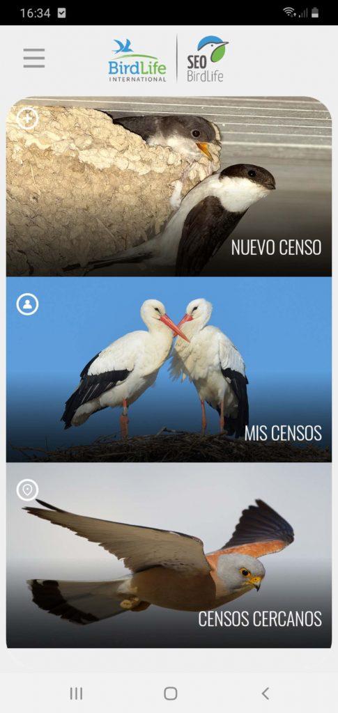 aplicación para censar aves