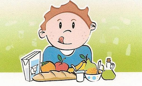 Desayuno Saludable Dibujo Niño Comiendo Saludable Dibujo
